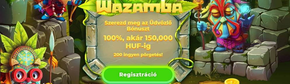 Wazamba online kaszinó véleménye, bónuszok, hasznos információk