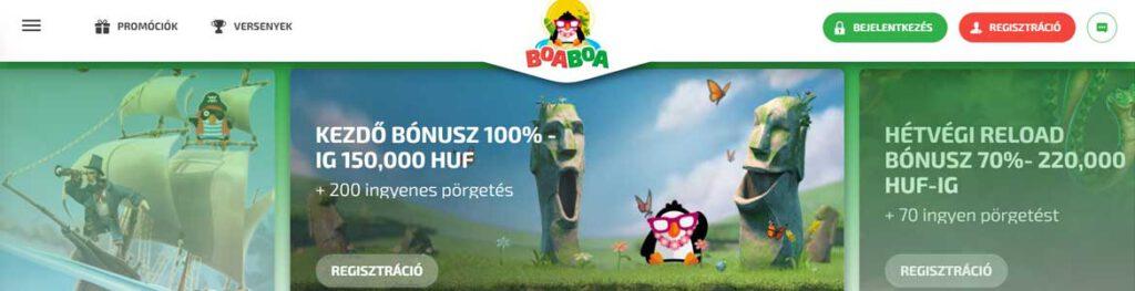 BoaBoa online kaszinók vélemények, bónuszok, hasznos tudnivalók